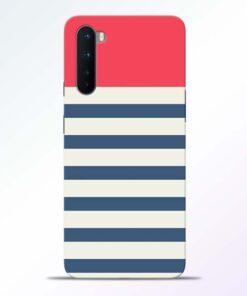 Light Blue Stripe Oneplus Nord Back Cover