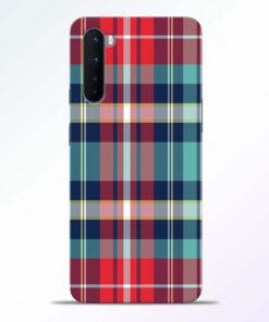 Multicolor Check Oneplus Nord Back Cover