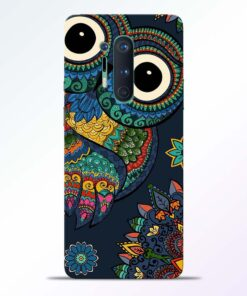 Multicolor Owl Oneplus 8 Pro Back Cover