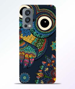 Multicolor Owl Oneplus Nord 2 Back Cover