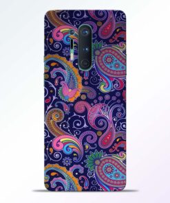 Paisley Floral Pattern Oneplus 8 Pro Back Cover