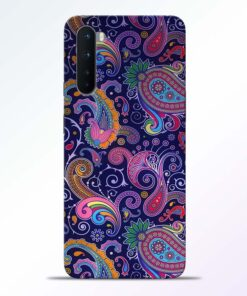 Paisley Floral Pattern Oneplus Nord Back Cover