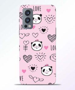 Panda Love Print Oneplus Nord 2 Back Cover