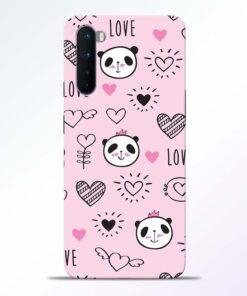 Panda Love Print Oneplus Nord Back Cover