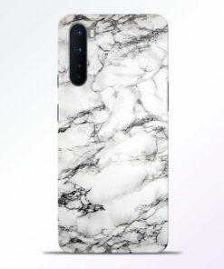 White Marble Oneplus Nord Back Cover